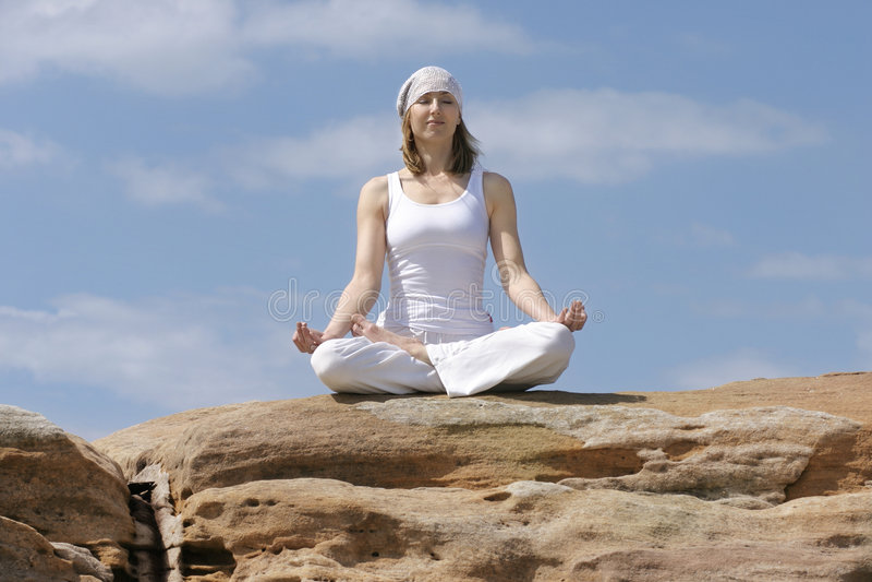 Yoga meditation. Woman meditating stock images