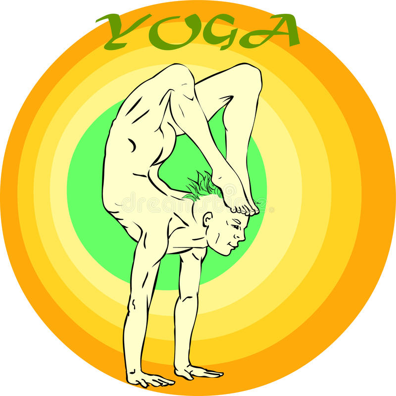 Download Yoga Meditation: Asana stock illustration. Illustration of series - 39790467