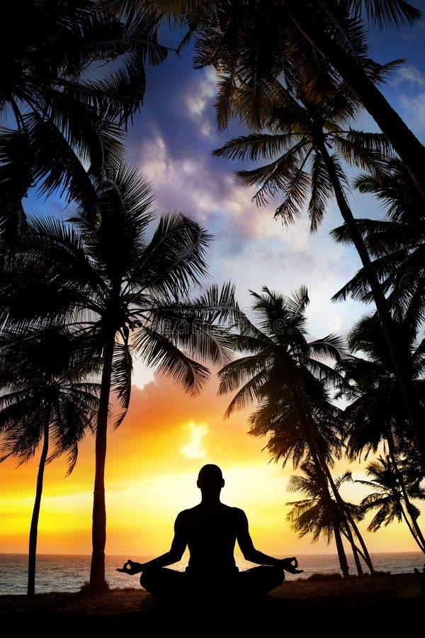 Download Yoga meditation in India stock photo. Image of meditative - 28007214