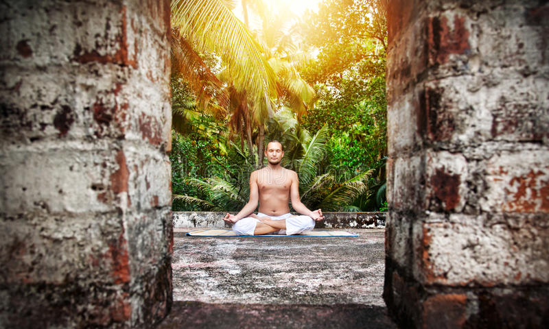 Download Yoga meditation in India stock photo. Image of class - 28098736