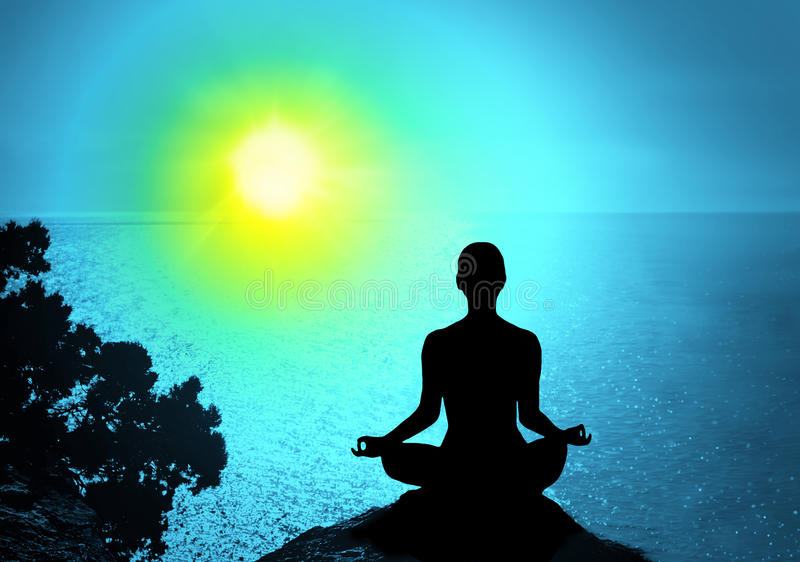 Yoga and meditation royalty free stock images