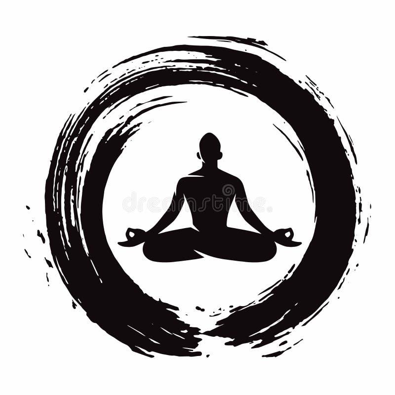 Free Yoga Meditation With Zen Circle Logo Template Vector Stock Photo - 99554350