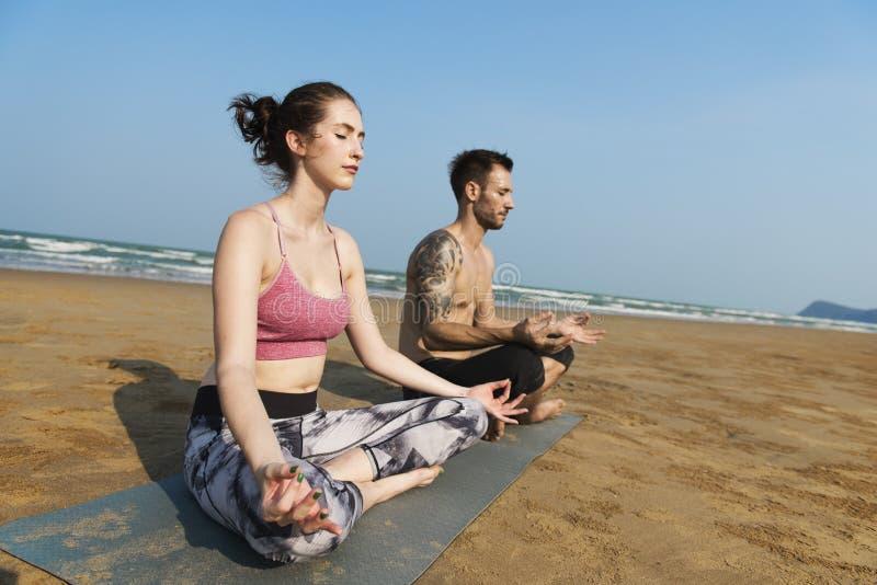 Yoga-Meditations-Konzentration ruhiges Serene Relaxation Concept stockfotografie