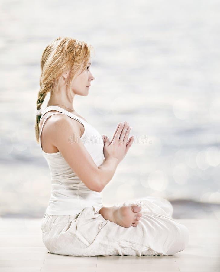 Download Yoga Meditative Padmasana Lotus Pose Stock Image - Image: 24507191