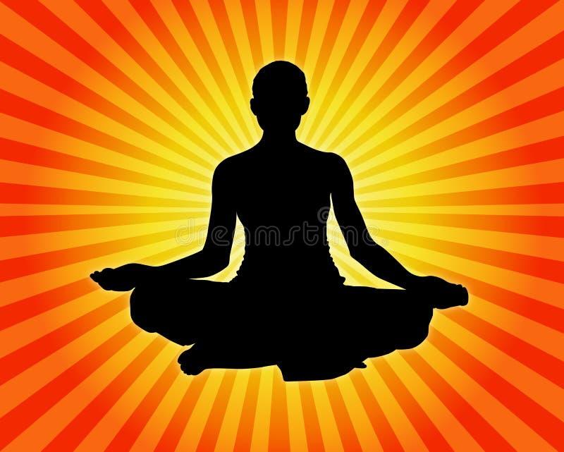 Yoga - meditazione illustrazione vettoriale