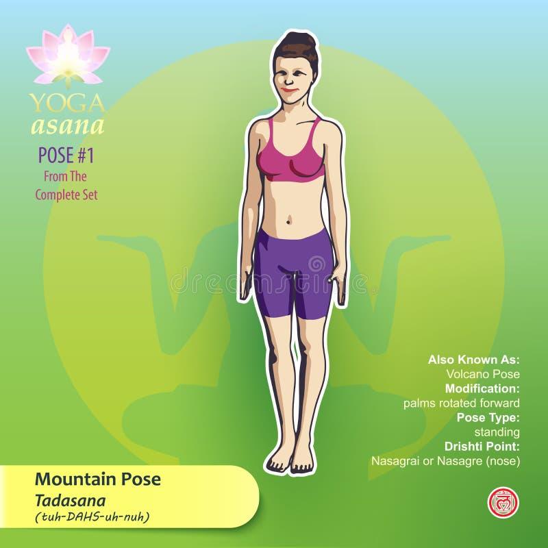 Yoga Mountain Pose 1 stock illustration