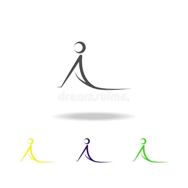 yoga multicolored pictogram Element van gezond het levens multicolored pictogram Tekens en symbolen het inzamelingspictogram kan  royalty-vrije illustratie