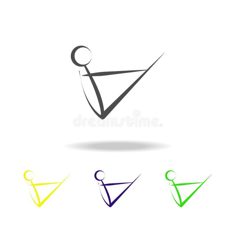 yoga multicolored pictogram Element van gezond het levens multicolored pictogram Tekens en symbolen het inzamelingspictogram kan  stock illustratie