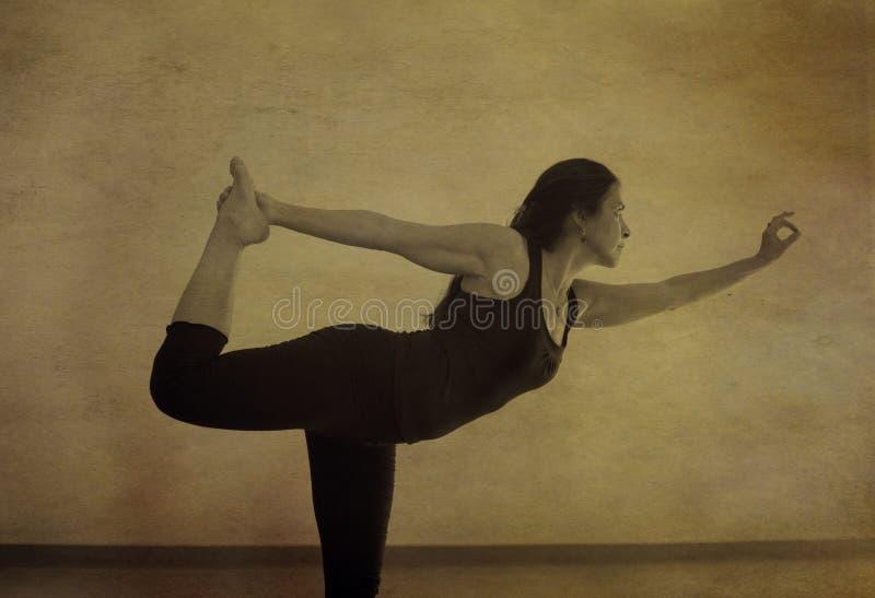 Yoga Natarajasana royalty-vrije stock foto
