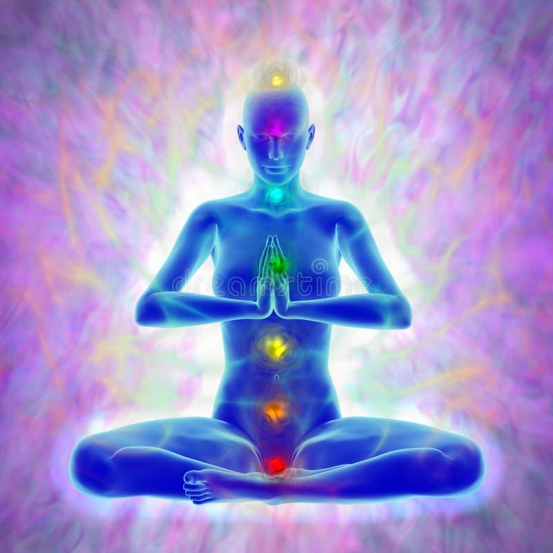 Yoga och meditation stock illustrationer