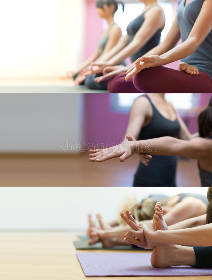 Yoga- och mindfulnessmeditation arkivfoto