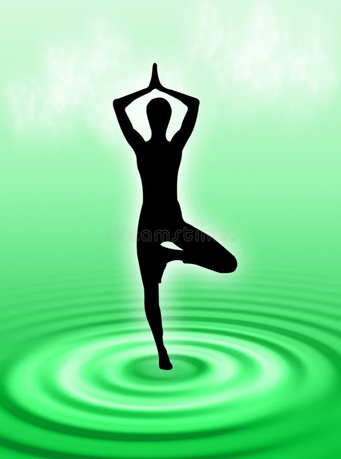 Yoga op het water royalty-vrije stock foto