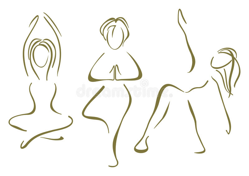 Yoga opleiding royalty-vrije illustratie