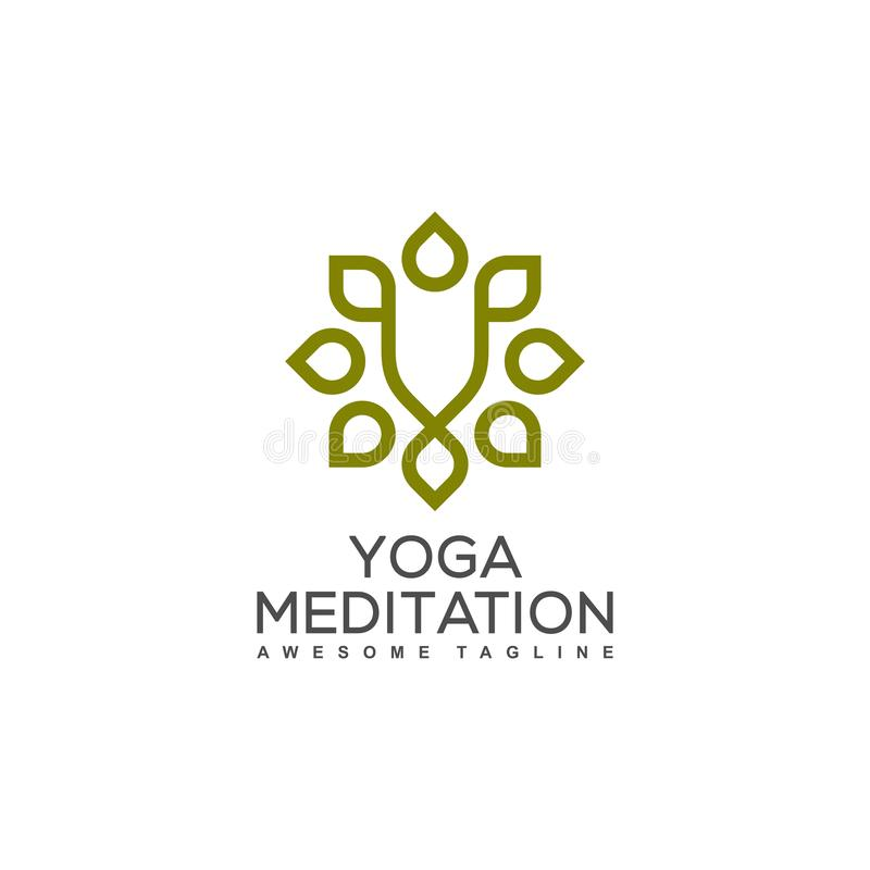 Yoga Ornament illustration vector Design template stock illustration