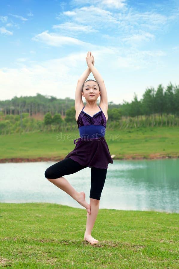 Yoga outdoor royalty free stock photo