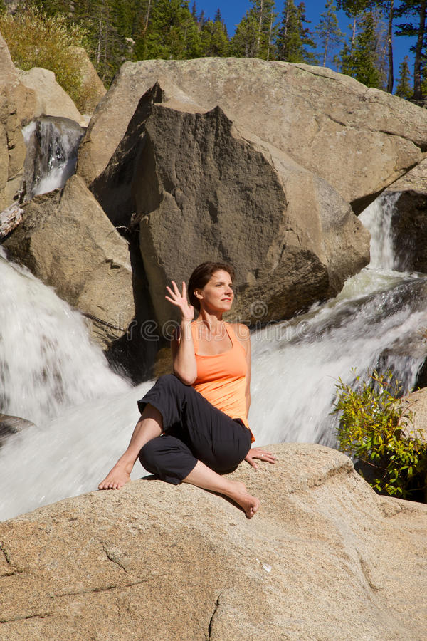 Download Yoga Outdoors stock image. Image of scenic, wilderness - 36202267