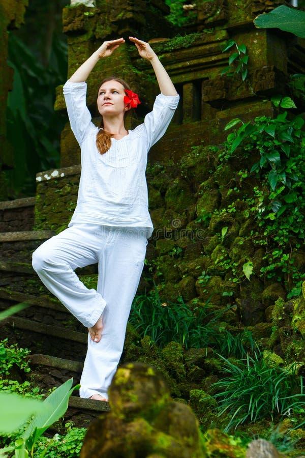 Yoga outdoors royalty free stock image