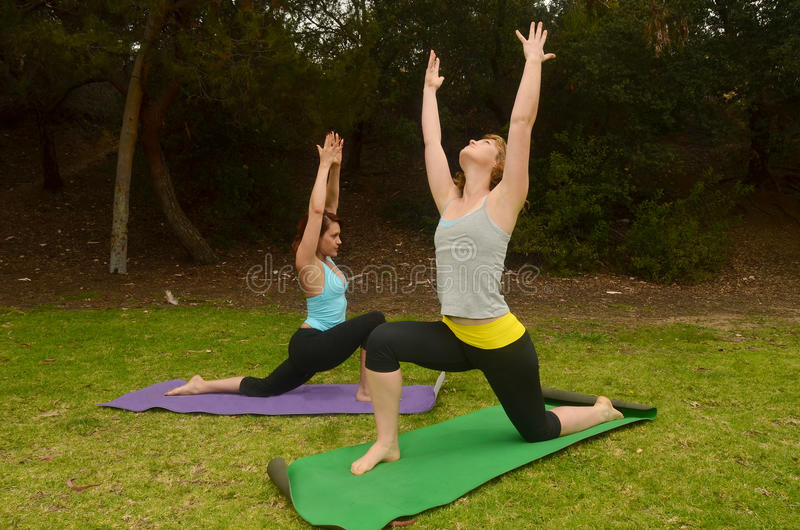 Yoga at the Park stock images