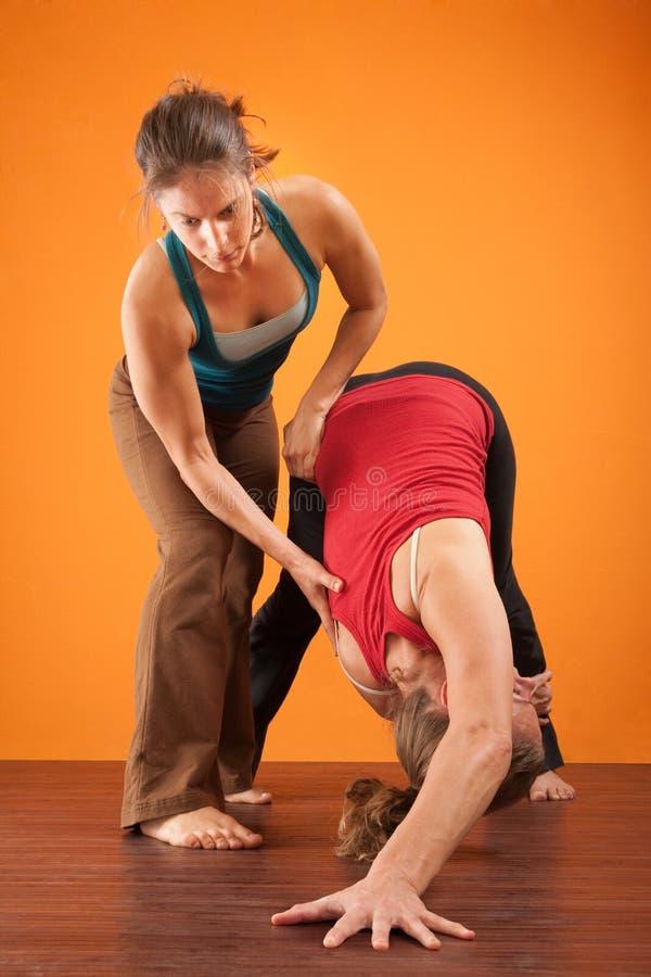 Yoga-Partner lizenzfreies stockbild
