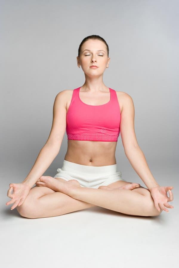 Yoga-Person lizenzfreie stockfotografie