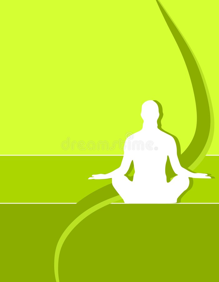 Yoga Person Silhouette Cover Royalty Free Stock Photos