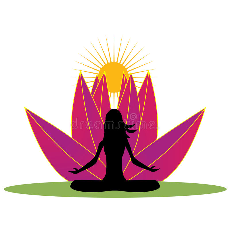 yoga and pink lotus flower logo stock vector illustration of heart rh dreamstime com lotus flower graphic images lotus flower graphic png
