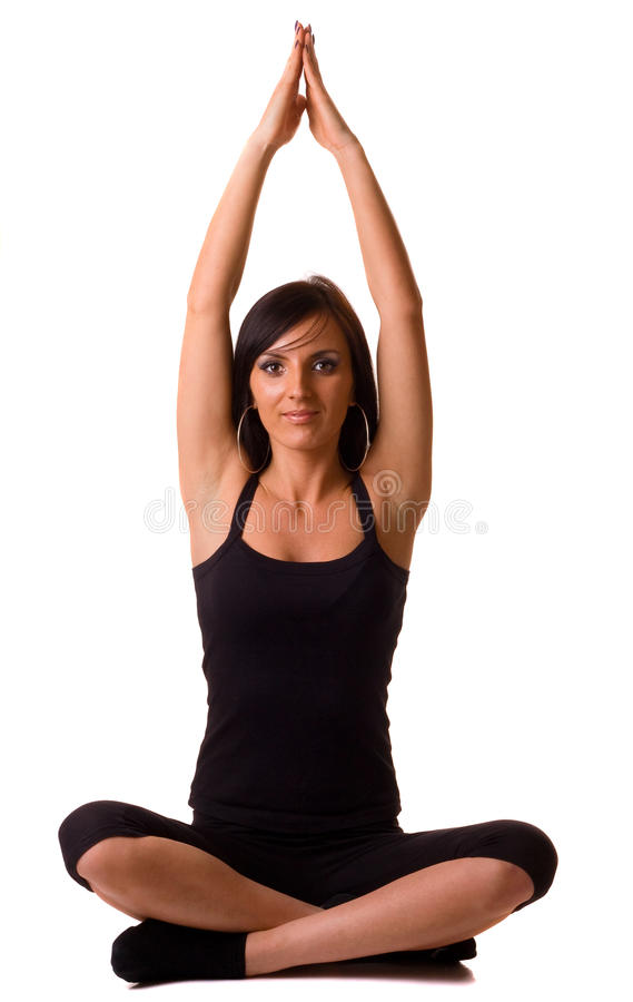 Download Yoga pose stock photo. Image of athlete, adult, athletic - 19370888