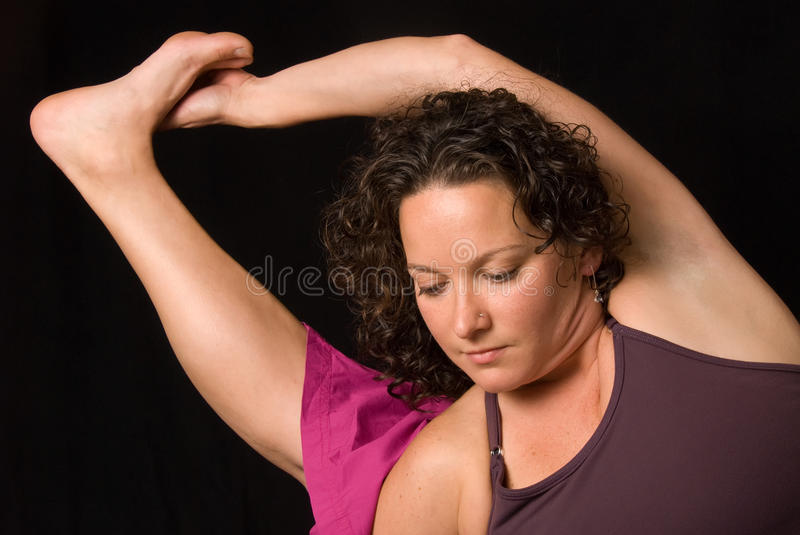 Download Yoga pose stock image. Image of curly, exercise, active - 27055731