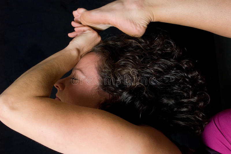 Download Yoga pose close up stock photo. Image of exercise, pink - 27055662