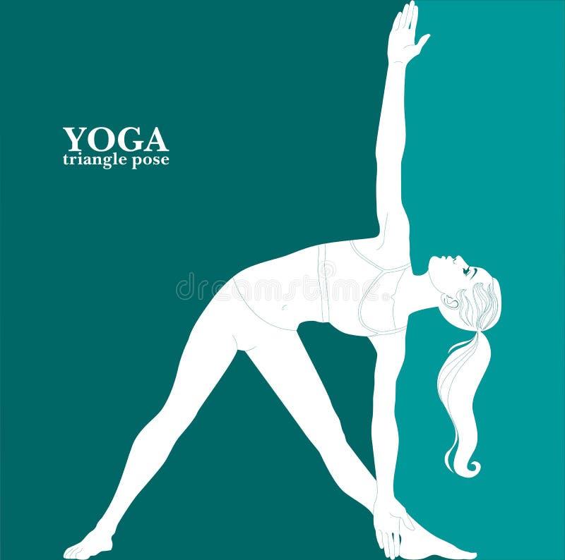 yoga Pose do triângulo ilustração stock