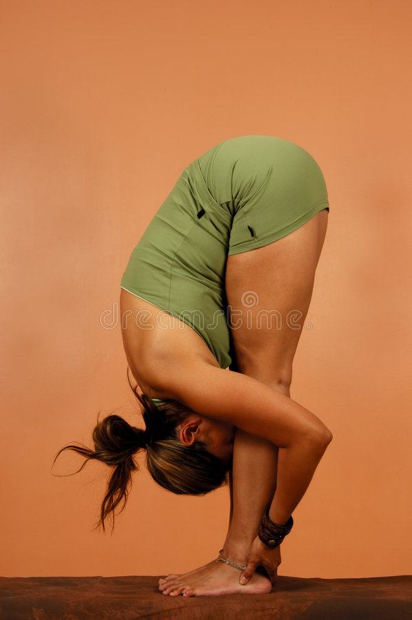 Yoga Pose Full Bend stock images