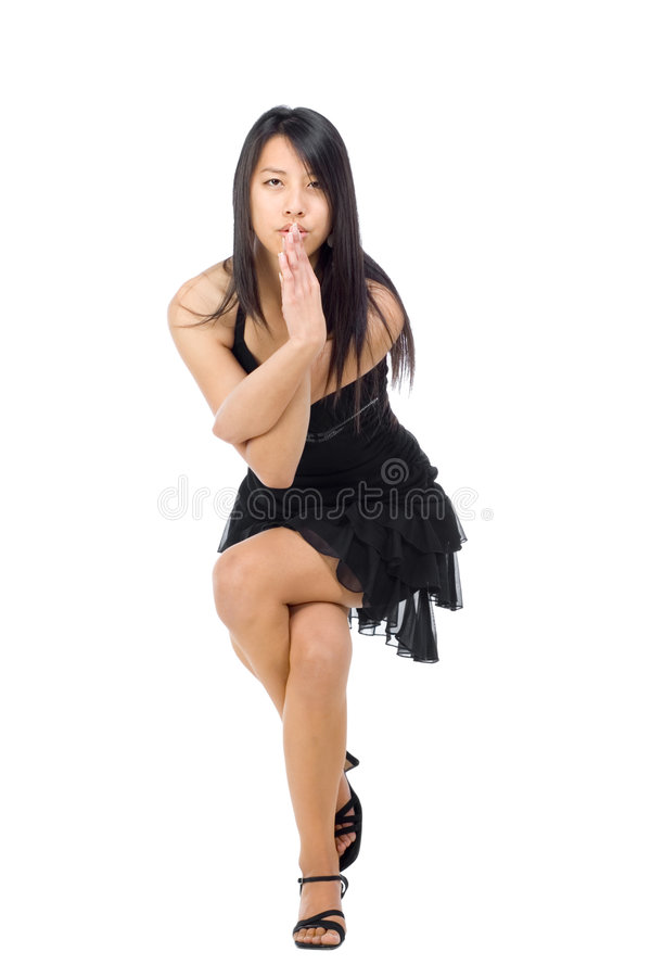 Yoga pose girl stock photo