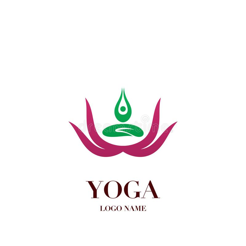 Yoga pose with lotus flower on the background logo icon abstrac download yoga pose with lotus flower on the background logo icon abstrac stock illustration mightylinksfo
