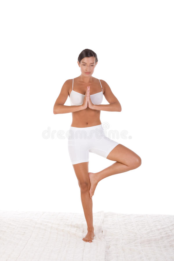 Download Yoga Pose - Woman In Sport Clothes Exercising Stock Photography - Image: 17525362