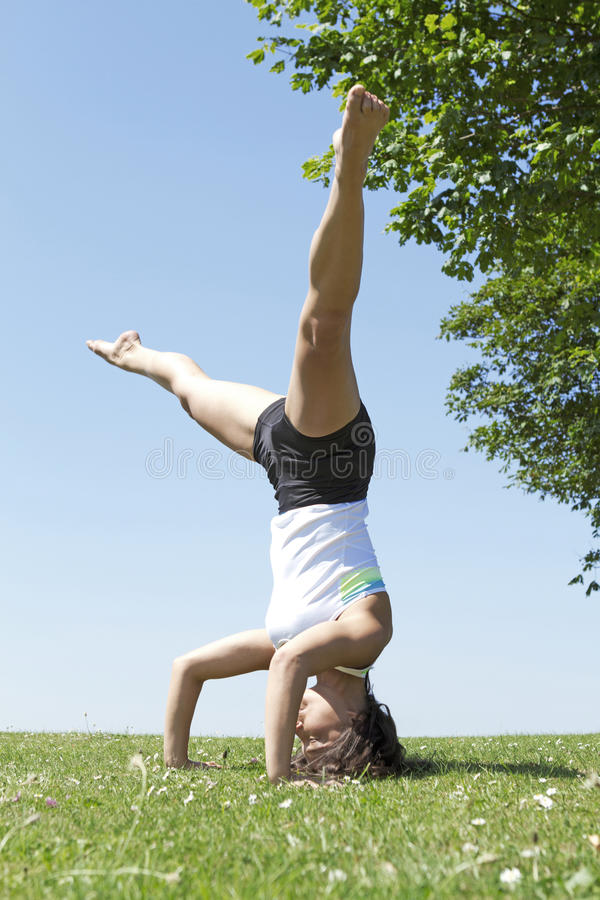 Download Yoga Pose stock image. Image of outdoors, concentration - 32472461