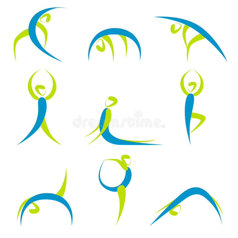 Yoga Poses Stock Images