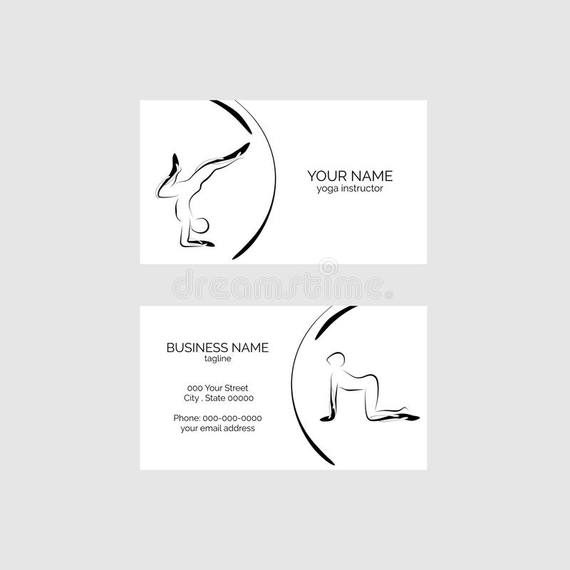 Yoga poses business card vector template stock vector illustration download yoga poses business card vector template stock vector illustration of wellness recreation reheart Image collections
