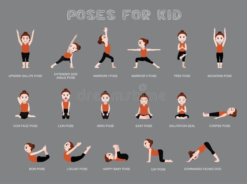 Yoga Poses For Kid Vector Illustration Stock Vector Illustration Of Health Gymnastic 77787249