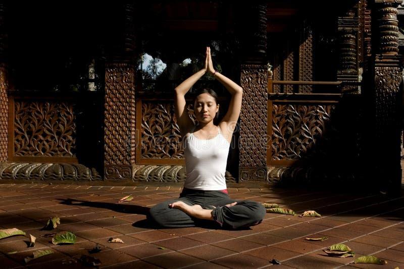 Yoga Position Stock Photo