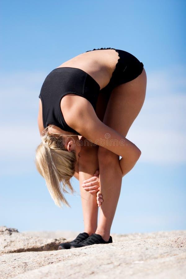 Download Yoga position stock photo. Image of health, fitness, feminine - 7114026