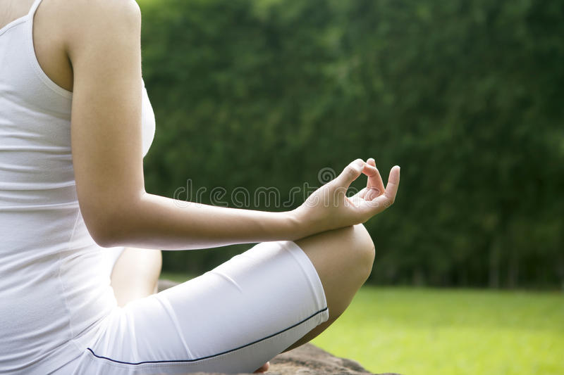 Download Yoga position shot outdoor stock image. Image of happy - 24797007