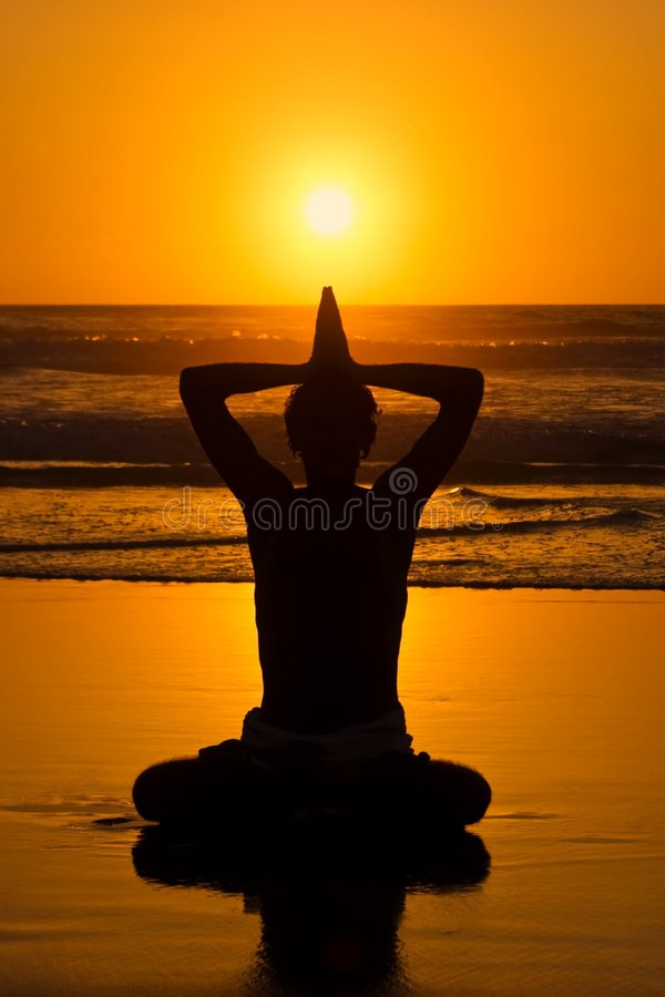 Download Yoga posture on the rocks stock image. Image of rock, body - 5054497
