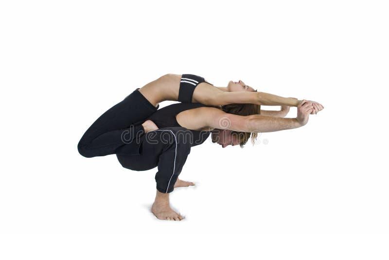 yoga pour deux s rie photo stock image du gracieux 5093788. Black Bedroom Furniture Sets. Home Design Ideas