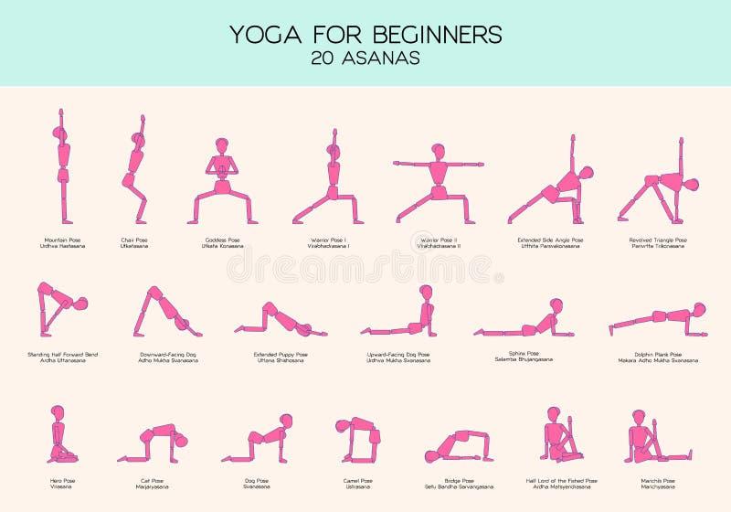 yoga pour le chiffre ensemble de b ton de poses de. Black Bedroom Furniture Sets. Home Design Ideas