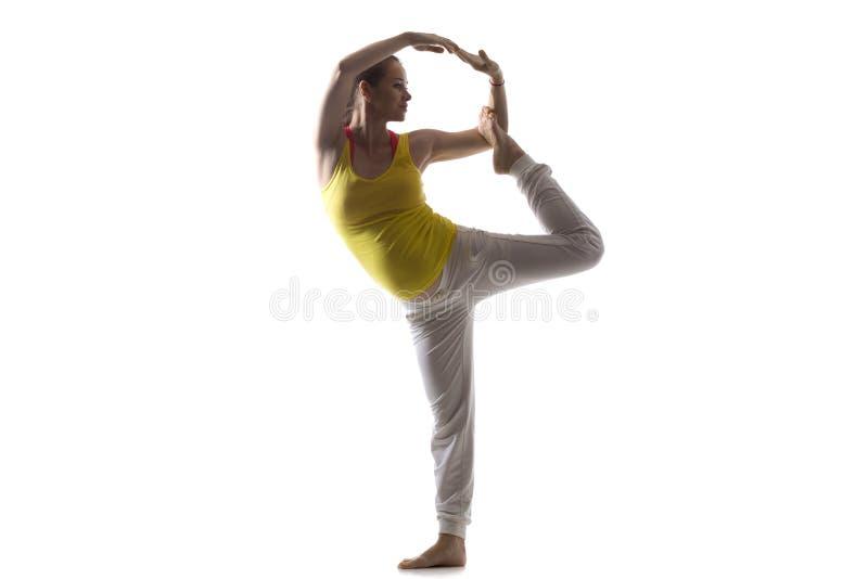 Yoga prénatal, seigneur de la pose de danse images libres de droits