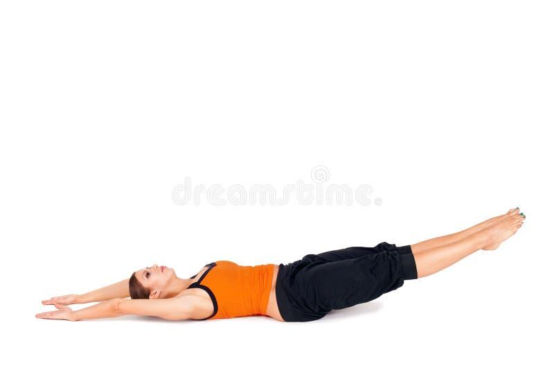 Yoga practicante Asana de la mujer fotografía de archivo