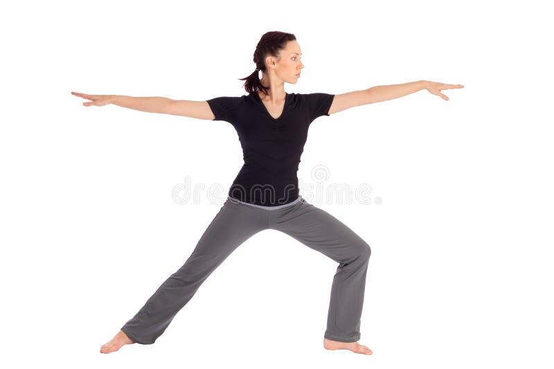 Yoga practicante Exercice de la mujer apta foto de archivo