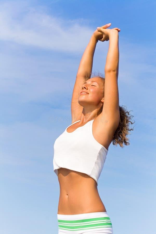 Free Yoga Practice Royalty Free Stock Image - 13595626