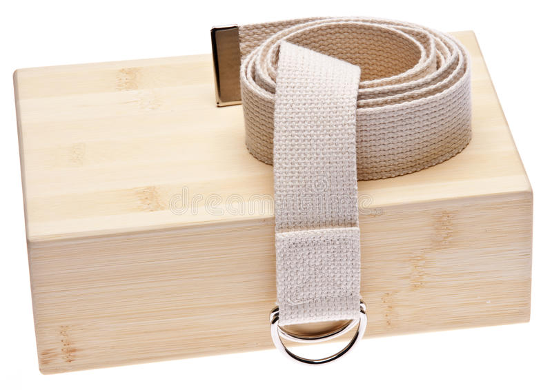 Download Yoga Practice stock photo. Image of strap, exercise, studio - 14867374