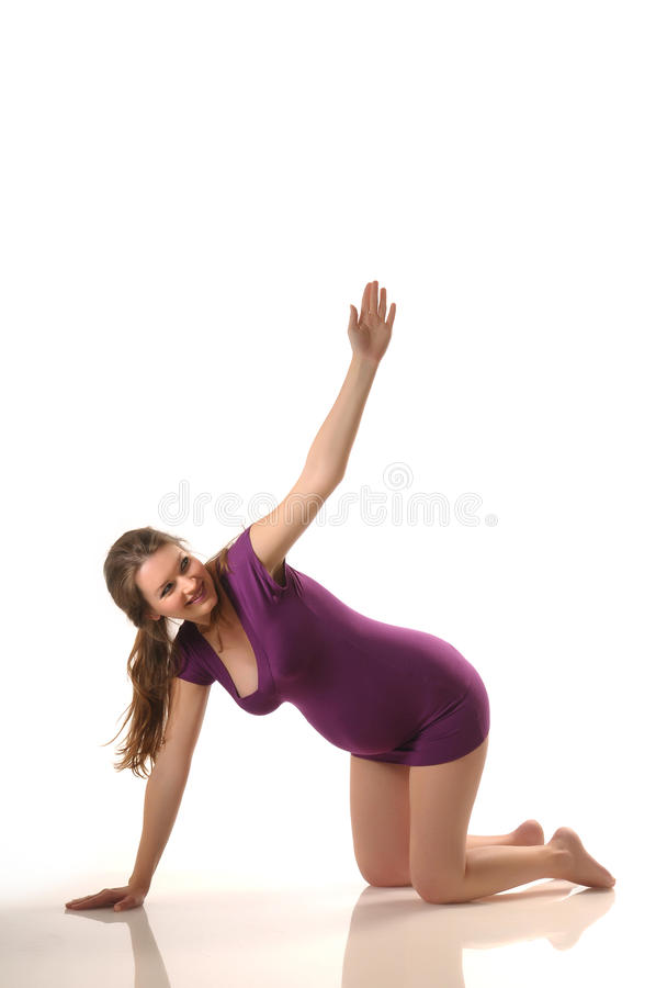 Yoga during pregnancy royalty free stock image